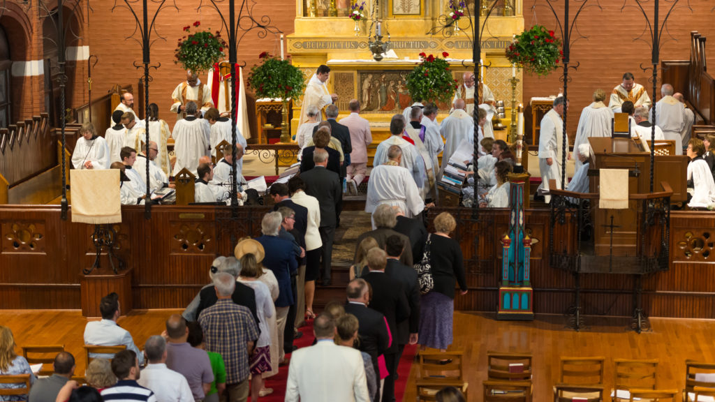 Eucharist following the ordination to the Priesthood of Fr. Chas Marks, at St. Mary's, Kansas City. 9-8-2017.