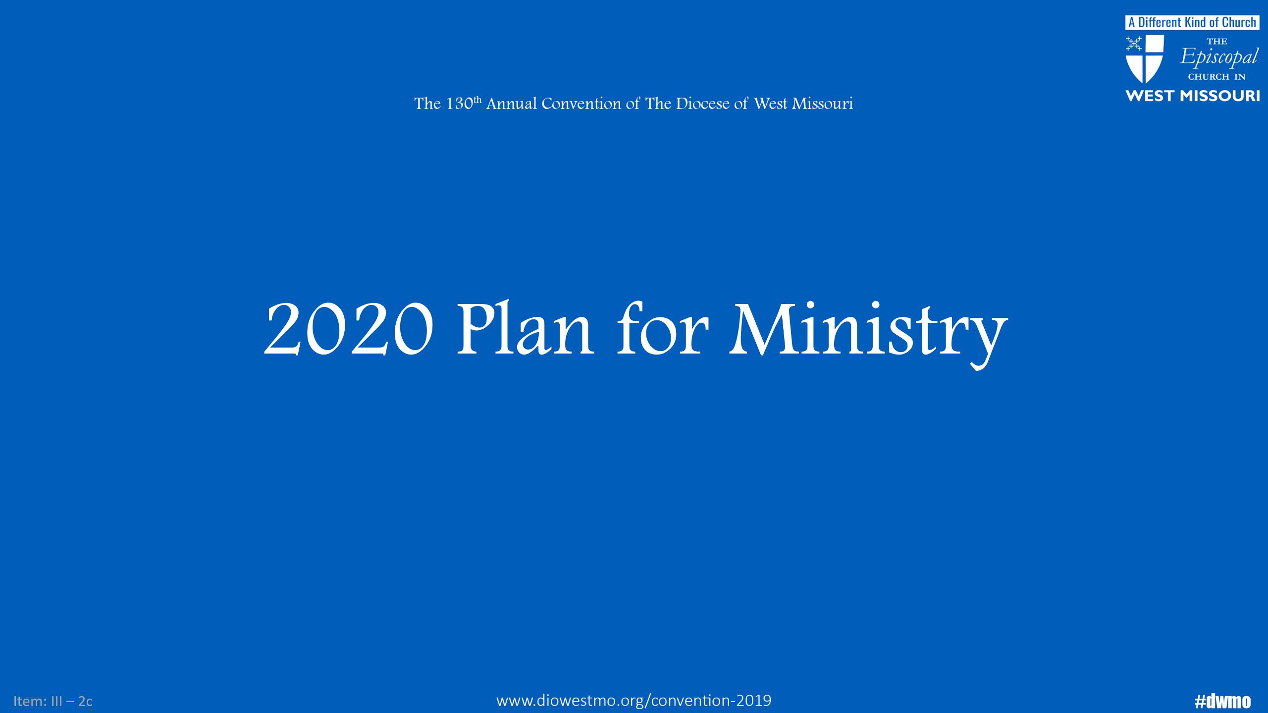 2020 Plan for Ministry Presentation Slides