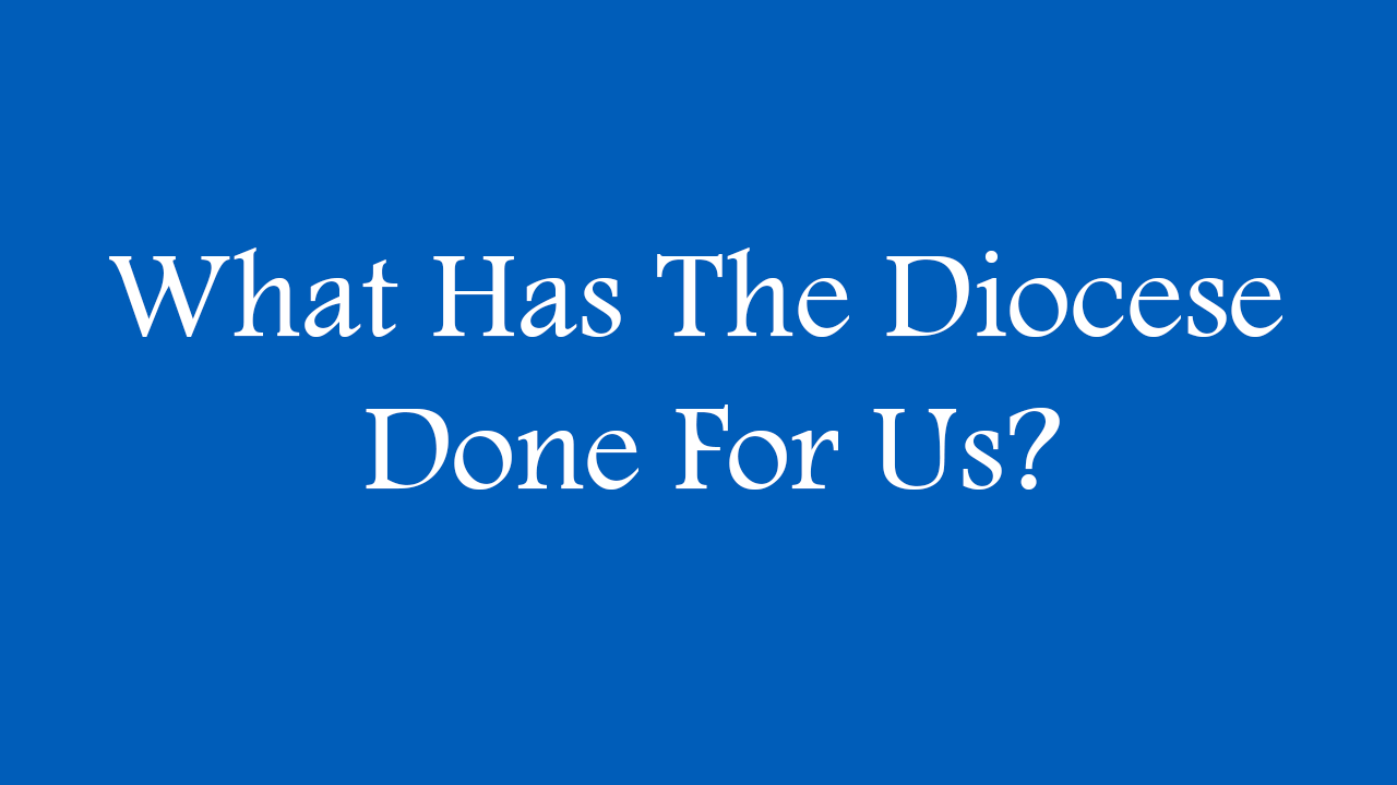 What has the diocese done for us?
