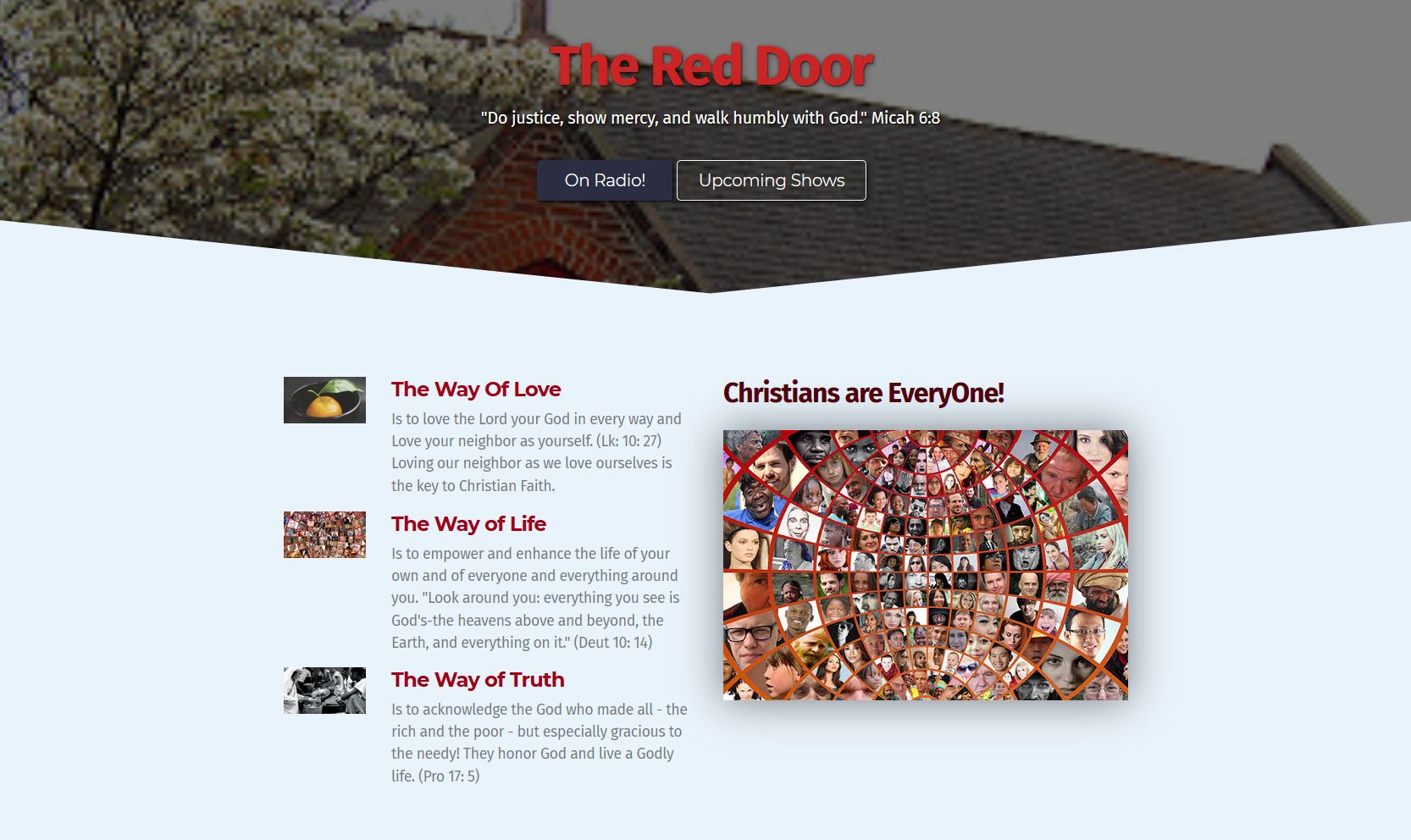 The Red Door Conversations A New Weekly Episcopal Radio Talk Show