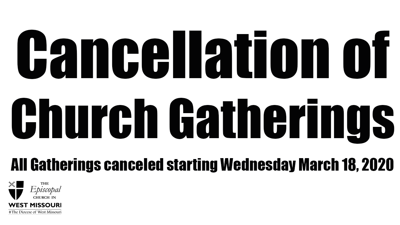 Cancellation of Church Gatherings