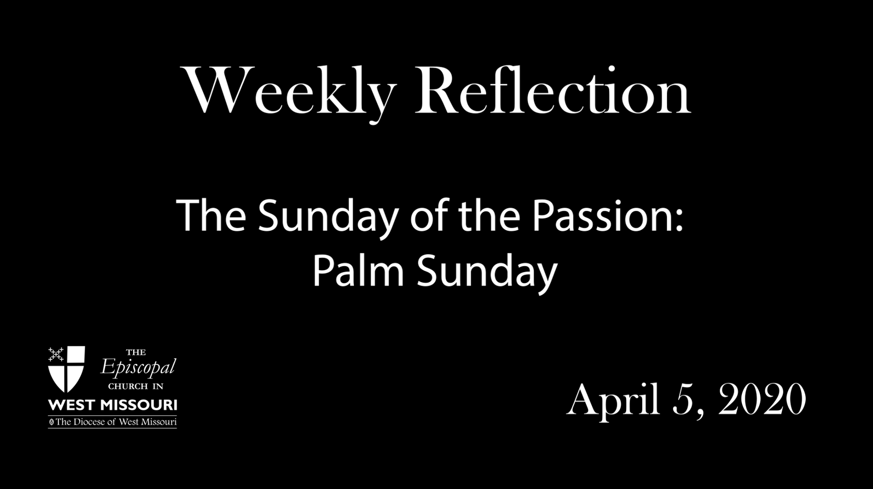 Weekly Reflection – Sunday of the Passion: Palm Sunday
