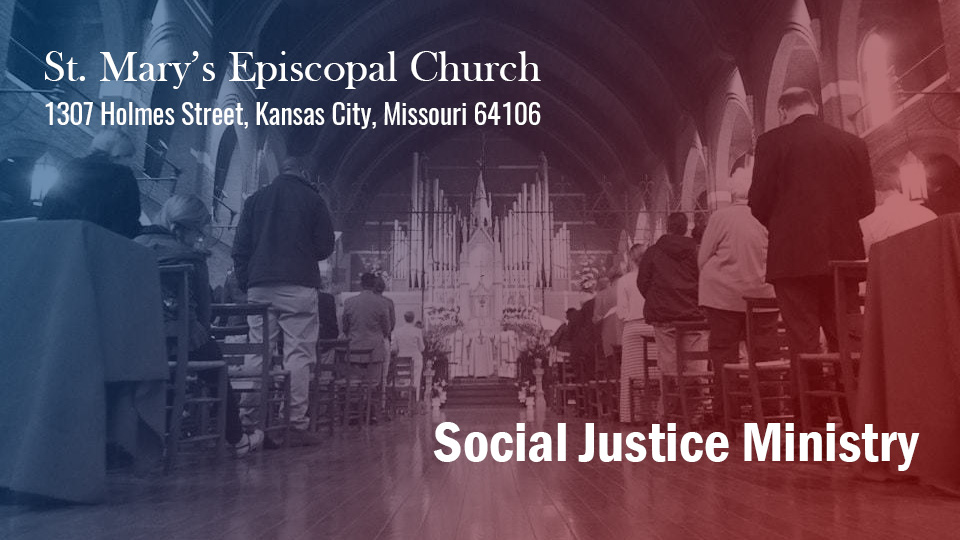 The Social Justice Ministry of St. Mary's, Kansas City, demands policing change in Kansas City Missouri Police Department
