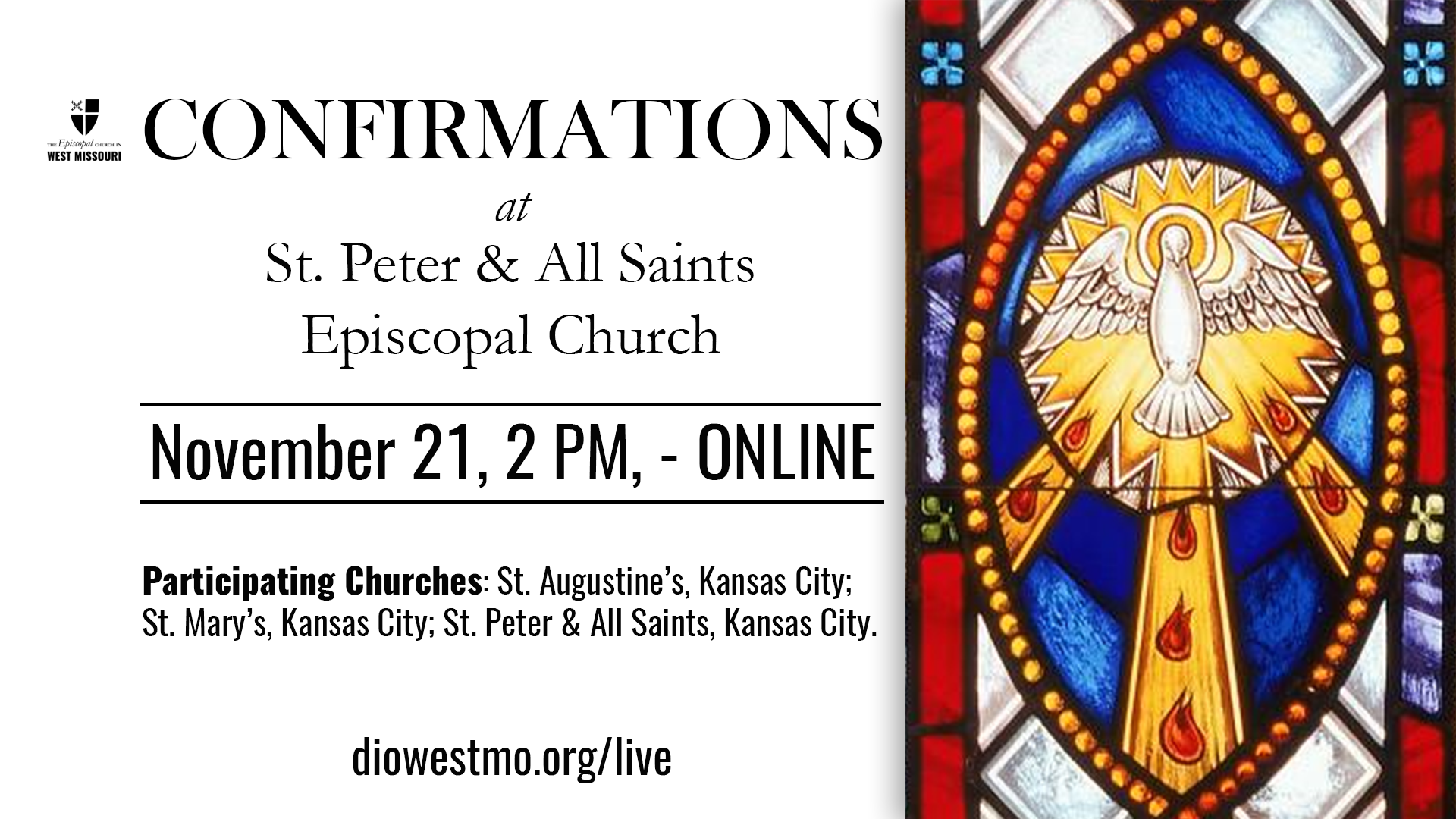 Live Broadcast – Area Confirmations at St. Peter & All Saints