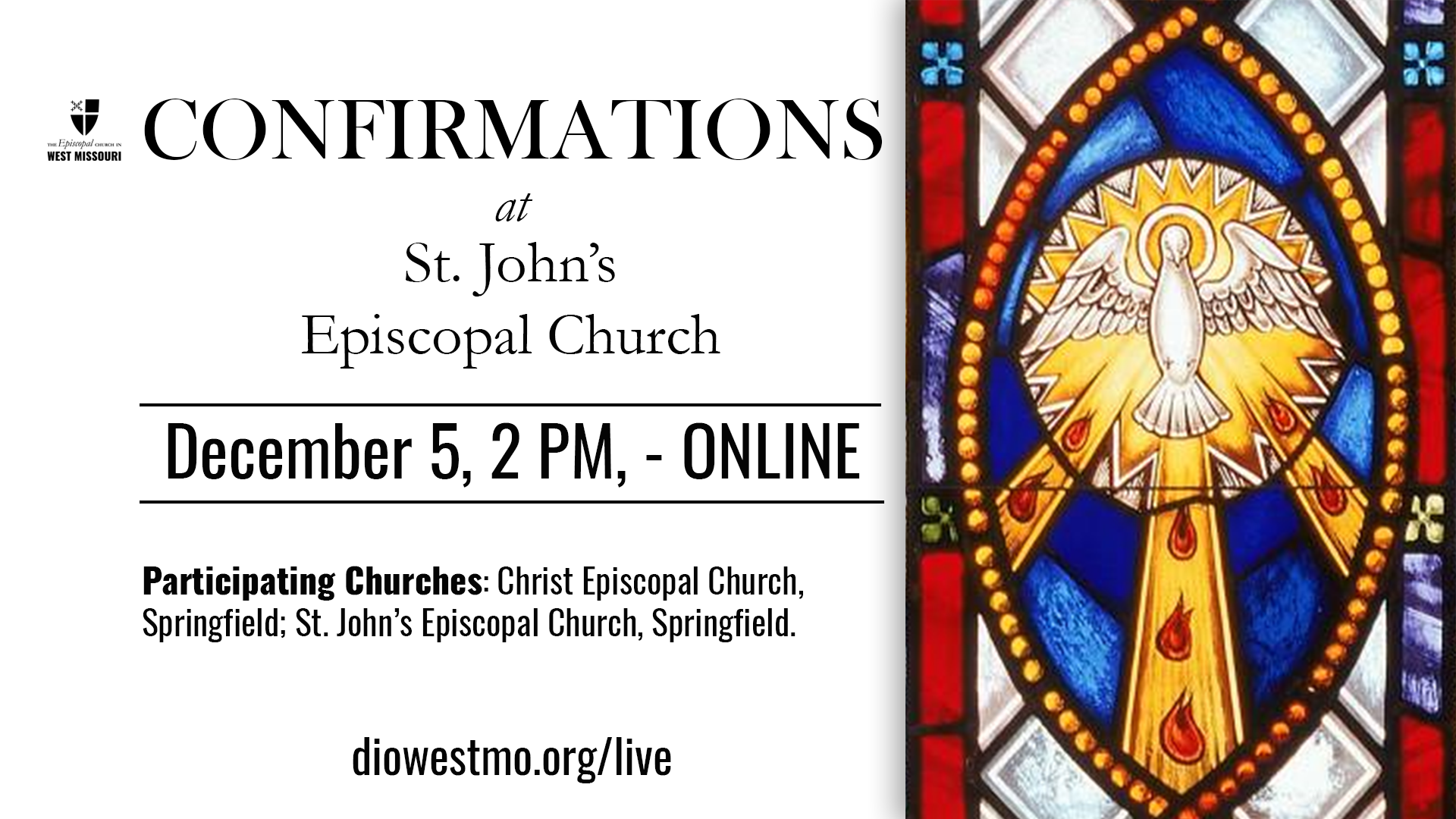 Live Broadcast – Area Confirmations at St. John's, Springfield