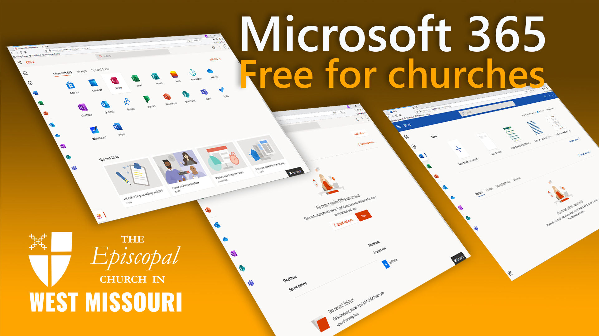 Apply now – Free Email and Microsoft 365 for up to 26 Churches