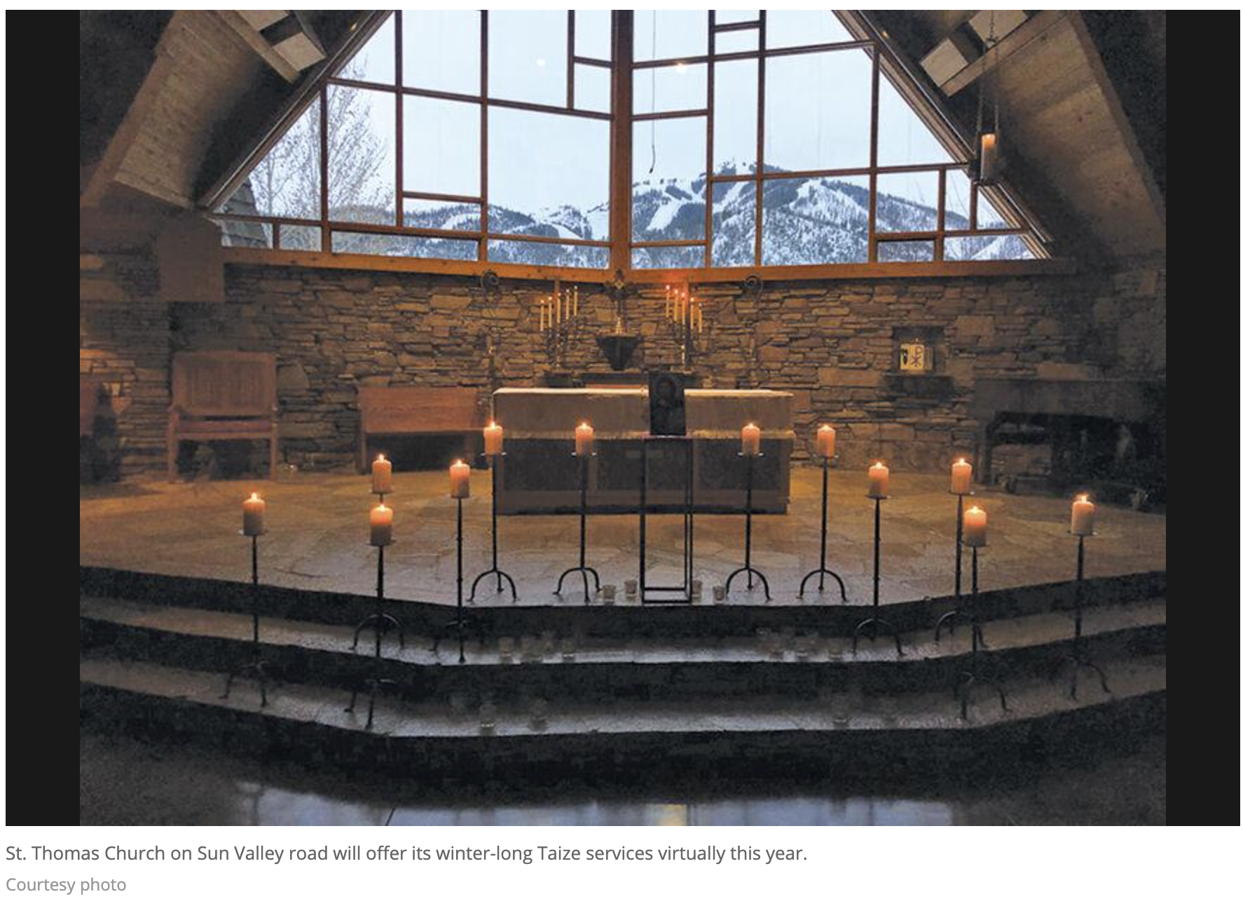 "Taize Ceremony brings a ""light in winter"""