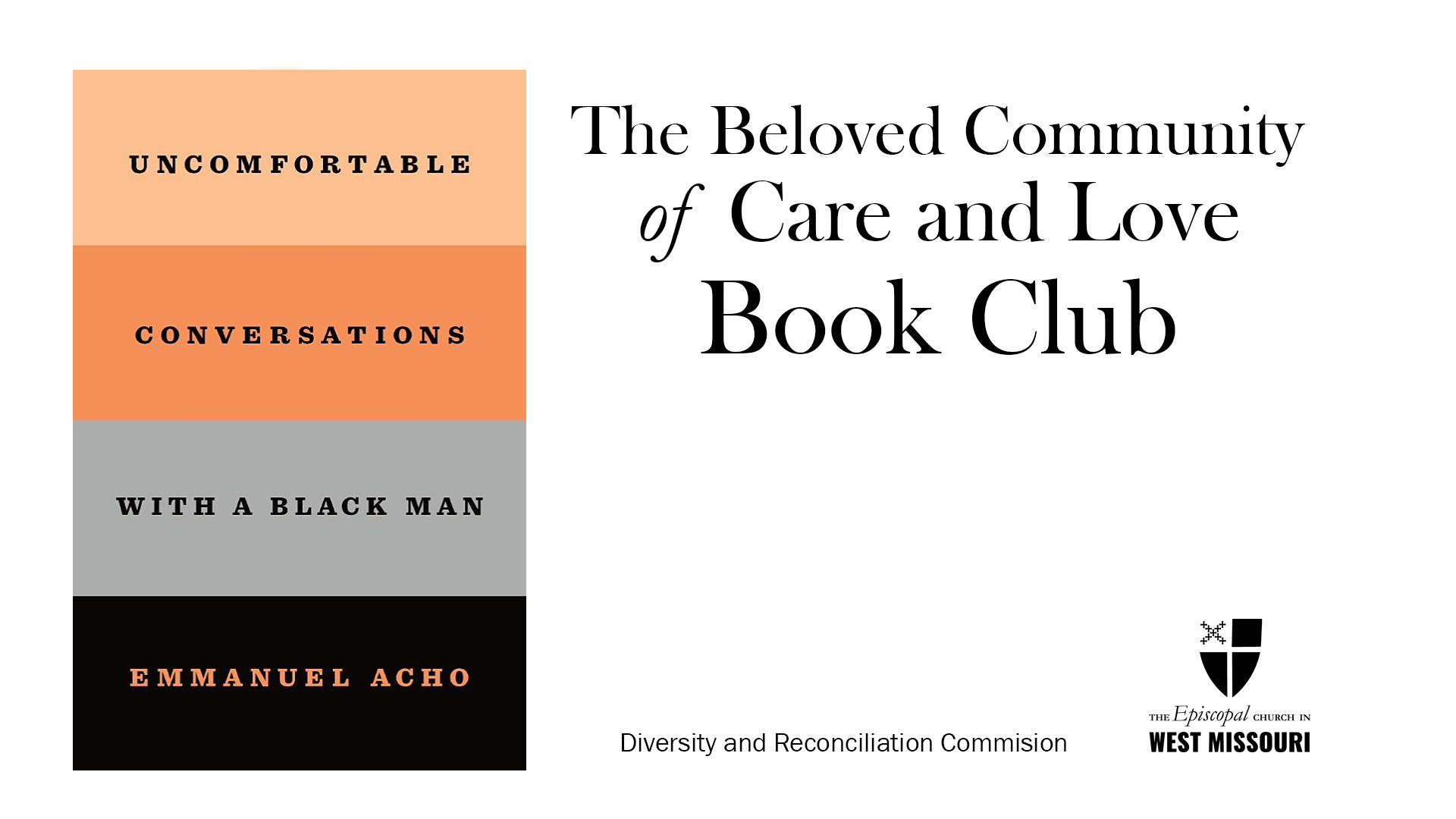 Diversity and Reconciliation Commission's third online series of book study sessions