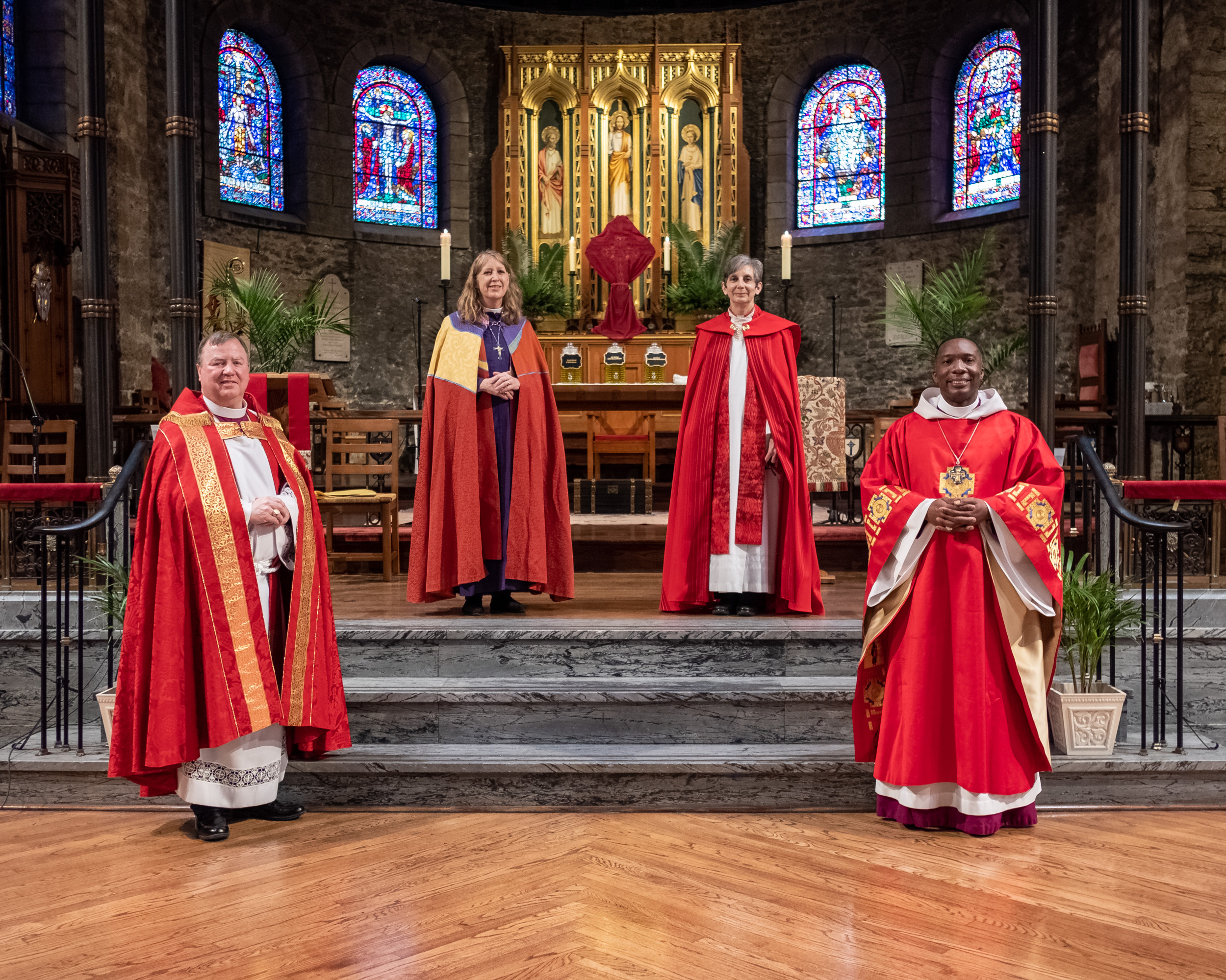 Four dioceses of The Episcopal Church and a Synod of the Evangelical Lutheran Church in America hold a joint service to renew baptismal and ordination vows and to bless oils