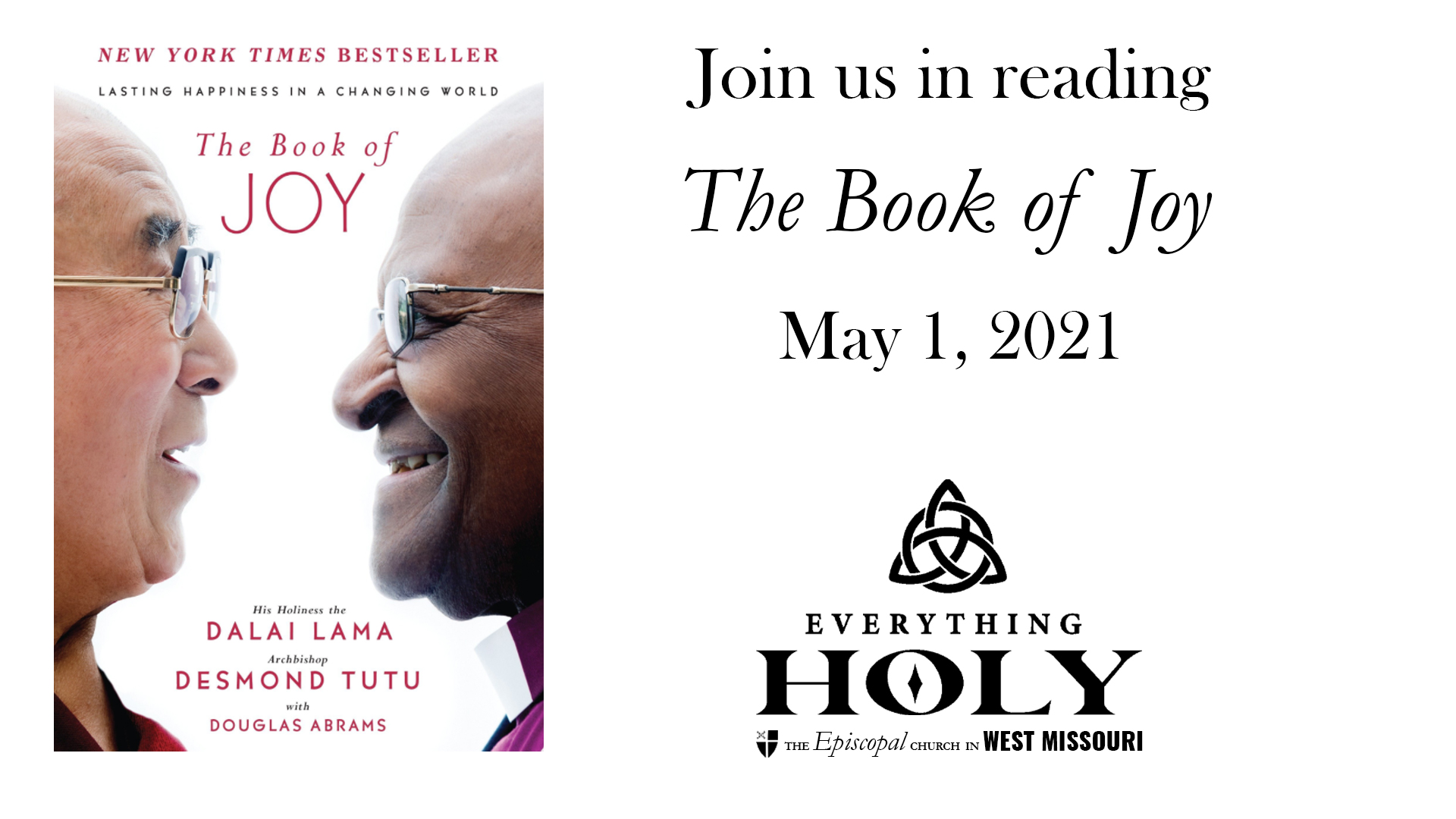 Join us in reading 'The Book of Joy,' starting May 1