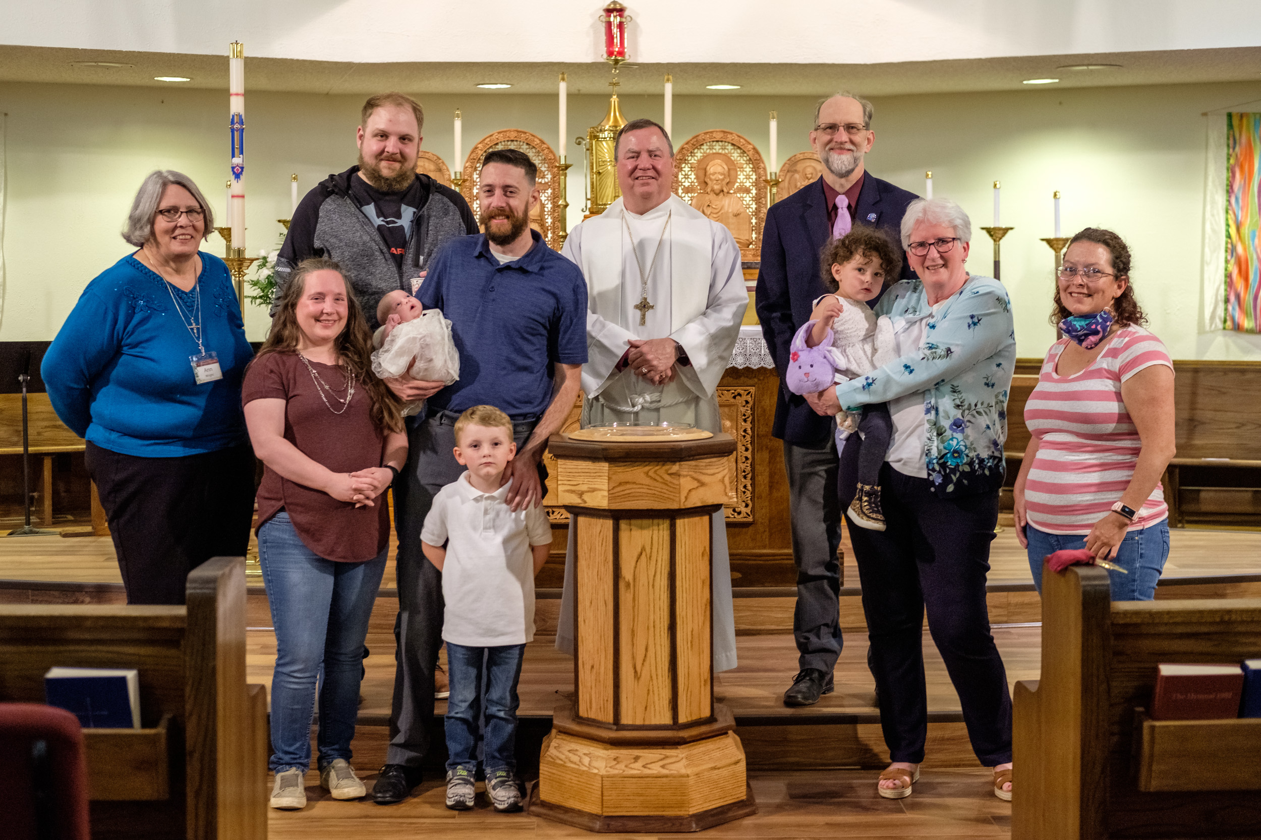 The Re-Dedication and Consecration of St. James, Springfield, and three baptisms