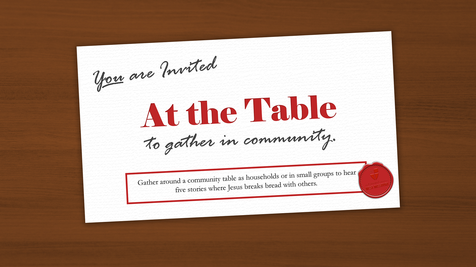 There is space for conversation 'At the Table' why not come and join us?